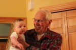 with Great Grandpa Douville